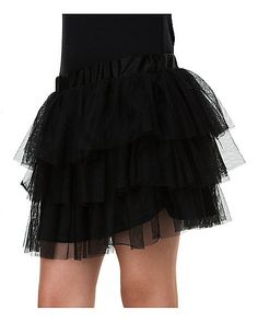 Ruffle Skirt - Black - Spirithalloween.com