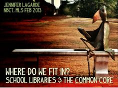 SLIDE SHARE: Where Do We Fit In?  School Libraries and the Common Core Slide Share presentation on the core standards with examples from a SC librarian