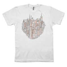 NYC Heart Tee by PiratesofBrooklyn, $29, now featured on Fab.