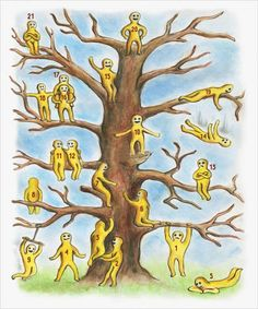 Psycho-Emotional Test: Each One of These Little Men On The Tree Has a Different Mood. Which One of Them Is You?