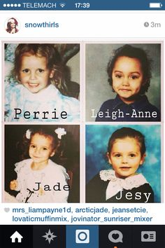 Little Mix when they were little