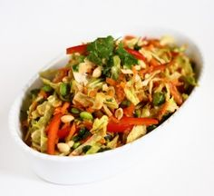 Asian Slaw with Ginger-Peanut Dressing {Culinary Adventures in the Kitchen}