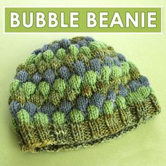 Bubble Beanie Hat with Free Pattern and Video Tutorial by Studio Knit