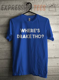 Men's Where's Drake Tho? Shirt Printed Unisex Adult Hip Hop Graphic T-Shirt #1439 by Expression Tees Trending Clothing / Apparel USA Seller
