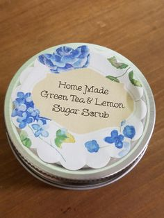 Green Tea and Lemon Sugar Scrub by LorettasNaturalSoaps on Etsy