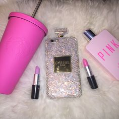 Starbucks, Chanel, Victorias Secret PINK & M.A.C all in one pic ❤
