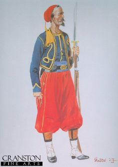 53rd New York Volunteers (DEpineuil Zouaves) 1861 by Richard Knotel - Military-Prints.com