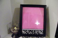 dry erase board framed with pocket by CrMessagesAndMore on Etsy, $22.00