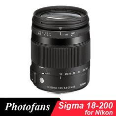 Sigma 18-200mm lens for Nikon 18-200 mm f/3.5-6.3 DC Macro OS HSM Lens For D3200 D3300 D5200 D5300 D5500 D5600 D7100 D7100 #Affiliate