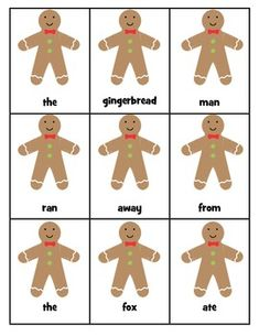Gingerbread word scramble freebie