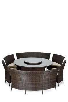 Our Valencia Brown 7 Piece Dining Set is perfect for those summer gatherings or even BBQ's!