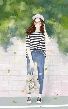Manga Girl, Anime Art Girl, Anime Manga, Lovely Girl Image, Girls Image, Girl Photo Poses, Illustration Girl, Anime Outfits, Girl Cartoon