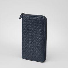Bottega Veneta Light Tourmaline Intrecciato VN Zip Around Wallet