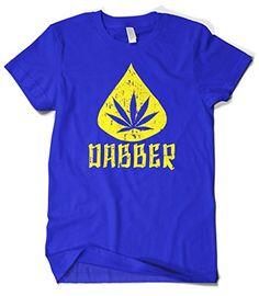 Cybertela Men's Marijuana Dabber, Weed Cannabis 420 T-shirt (Royal Blue, 2X-Large)