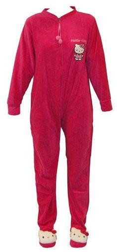 Hello Kitty adult footie pajamas