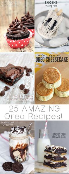 Hello, Oreo Heaven! This round up has 25 of the most AMAZING Oreo recipes in one place. Score! #baking #dessert