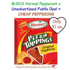 Print a $1/2 Hormel Pepperoni to get CHEAP Pepperoni at Publix this week!!  Click the link below to get all of the details ► http://www.thecouponingcouple.com/12-hormel-pepperoni-coupon-cheap-pepperoni-publix/  #Coupons #Couponing #CouponCommunity  Visit us at http://www.thecouponingcouple.com for more great posts!