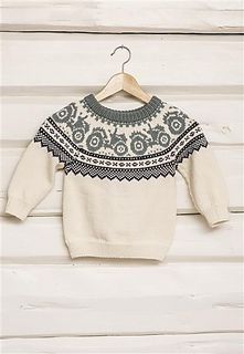 Traktorgenser pattern by Sandnes Garn Baby Boy Knitting Patterns, Baby Sweater Knitting Pattern, Fair Isle Knitting Patterns, Knitting For Kids, Knitting Designs, Baby Patterns, Knit Patterns, Handgestrickte Pullover, Crochet Baby