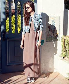 F21 maxi dress. Do want.