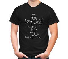 """Черная мужская футболка """"Fuck you. I can fly"""""""