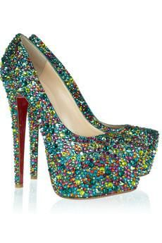 #Christian Louboutin | Daffodile 160 #crystal-embellished leather #pumps