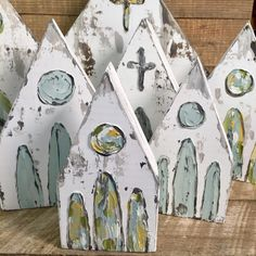 Painting on wood, scrap wood projects, craft projects, wood crafts, d Block Painting, Painting On Wood, Spring Crafts, Holiday Crafts, Christmas Art, Christmas Decorations, Xmas, Journal D'art, Crafts To Make
