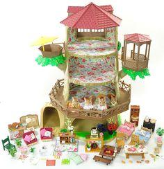*fistuff* Sylvanian Families Decorated Large Tree House Furniture Figures + Lots