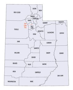 washington county utah and cities | Utah county map