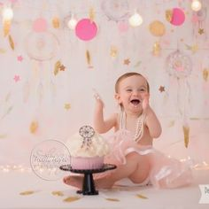 This Heidi Hope Backdrop is so sweet in pink with its painterly forest of dreamcatchers.