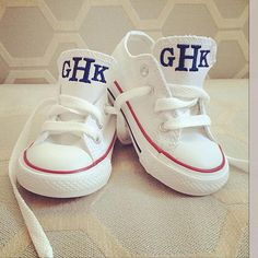Personalized Kids Converse....umm yes please...thanks @Courtney Baker Baker Baker Baker Morrow !