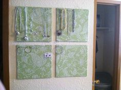 Here is how I organize my jewelry (cork board and contact paper)