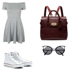 Untitled #6 by agenao27 on Polyvore featuring polyvore, fashion, style, Topshop, Mulberry, Converse and clothing