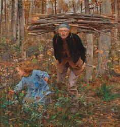 Jules Bastien-Lepage (French, 1848–1884). Le Père Jacques (Woodgatherer), 1881.  77 1/2 x 71 in.