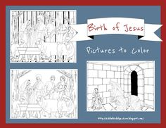 Birth of Jesus pictures to color