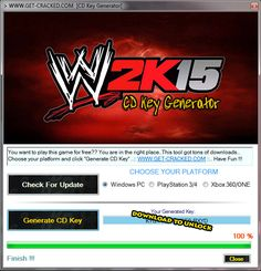 WWE 2k15 cd keys giveaway..WWE 2k15 Free Download, cd key, activation code, serial number, key generator,keygen.. Play this game now for FREE..