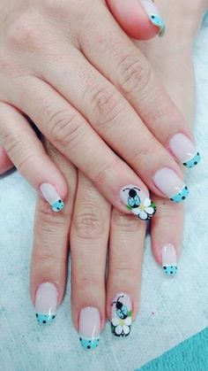 Uñas Fingernail Designs, Nail Polish Designs, Acrylic Nail Designs, Nail Art Designs, Cute Nail Art, Cute Nails, Pretty Nails, Butterfly Nail Art, Cute Summer Nails