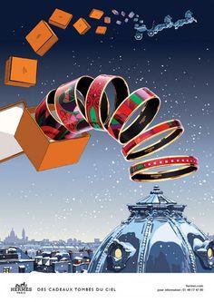 Hermès - campagne de publicité / ad campaign - Noël 2014 - Publicis & Nous - bracelet email - by Dimitri Rybaltchenko