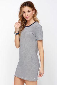 Obey Parker Dress - Navy Blue Dress - Striped Dress - $40.00