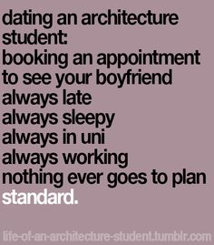 life of an architecture student