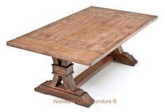 Elegant Rustic Table Distressed Mahogany