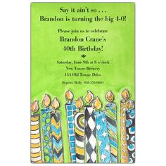 Big Blow Out Birthday Invitations   PaperStyle