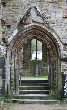 Tintern Abbey in Wales--it is incredibly beautiful and well-preserved.