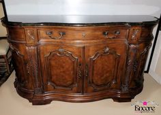 DREXEL HERITAGE MARBLE TOP BUFFET CREDENZA SIDEBOARD