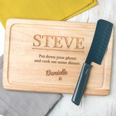 Personalised Engraved Funny Wood Chopping Board