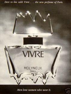 "1972 Original Ad Vivre by Molyneux Paris Perfume ""Men Love Women Who Wear It"" | eBay"