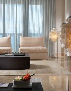 J Design Groujp Interior Designers Bal Harbour modern-living-room.    Lovely look to the room and nice curtains