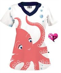 Octavia the Octopus White Print Top...loooove this top it will be mine soon =]