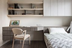 Builtin desk//shelving//mill work  THINKING DESIGN | TAICHUNG DARKWOOD