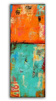 Abstract Original Painting on wood