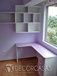 DIY desk and wall shelfs Study Table Designs, Study Room Design, Study Room Decor, Bedroom Closet Design, Small Room Bedroom, Bedroom Decor, Girls Bedroom, Bedrooms, Pinterest Room Decor